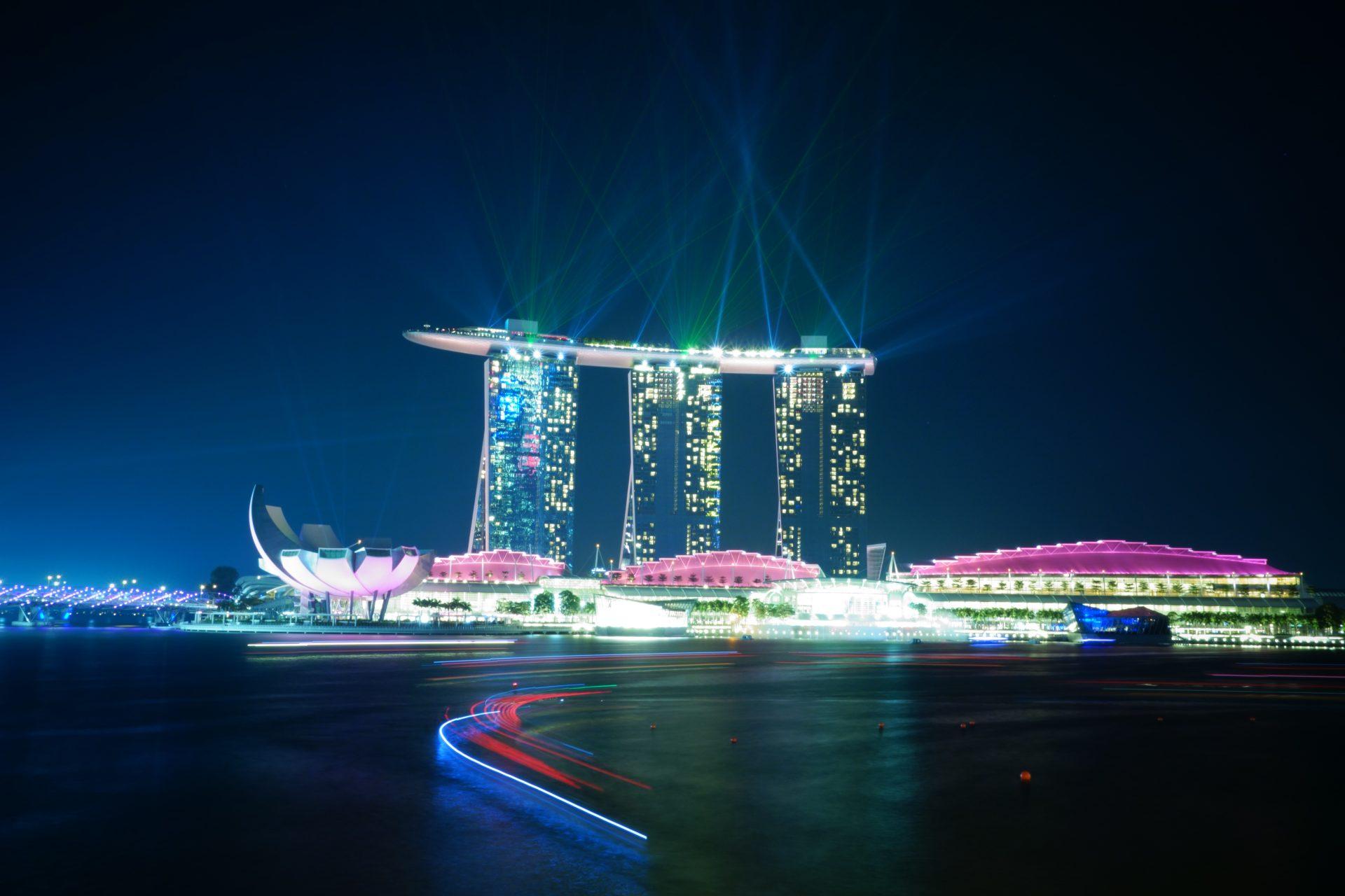 Show de luces. Que hacer en Singapur