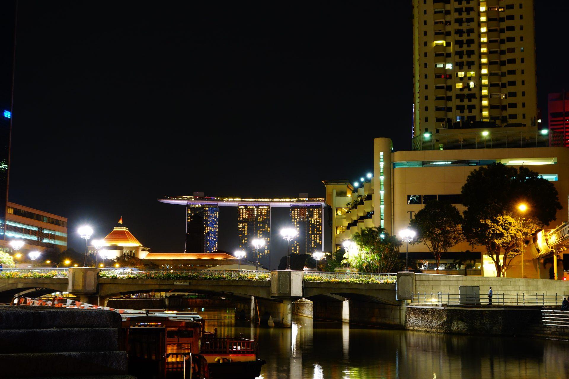 Vistas del Marina Bay Sands desde Calrke Quay. Que hacer en Singapur