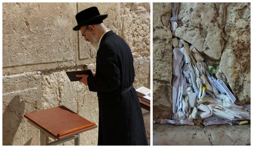 Judío ortodoxo rezando. Conocer Jerusalén