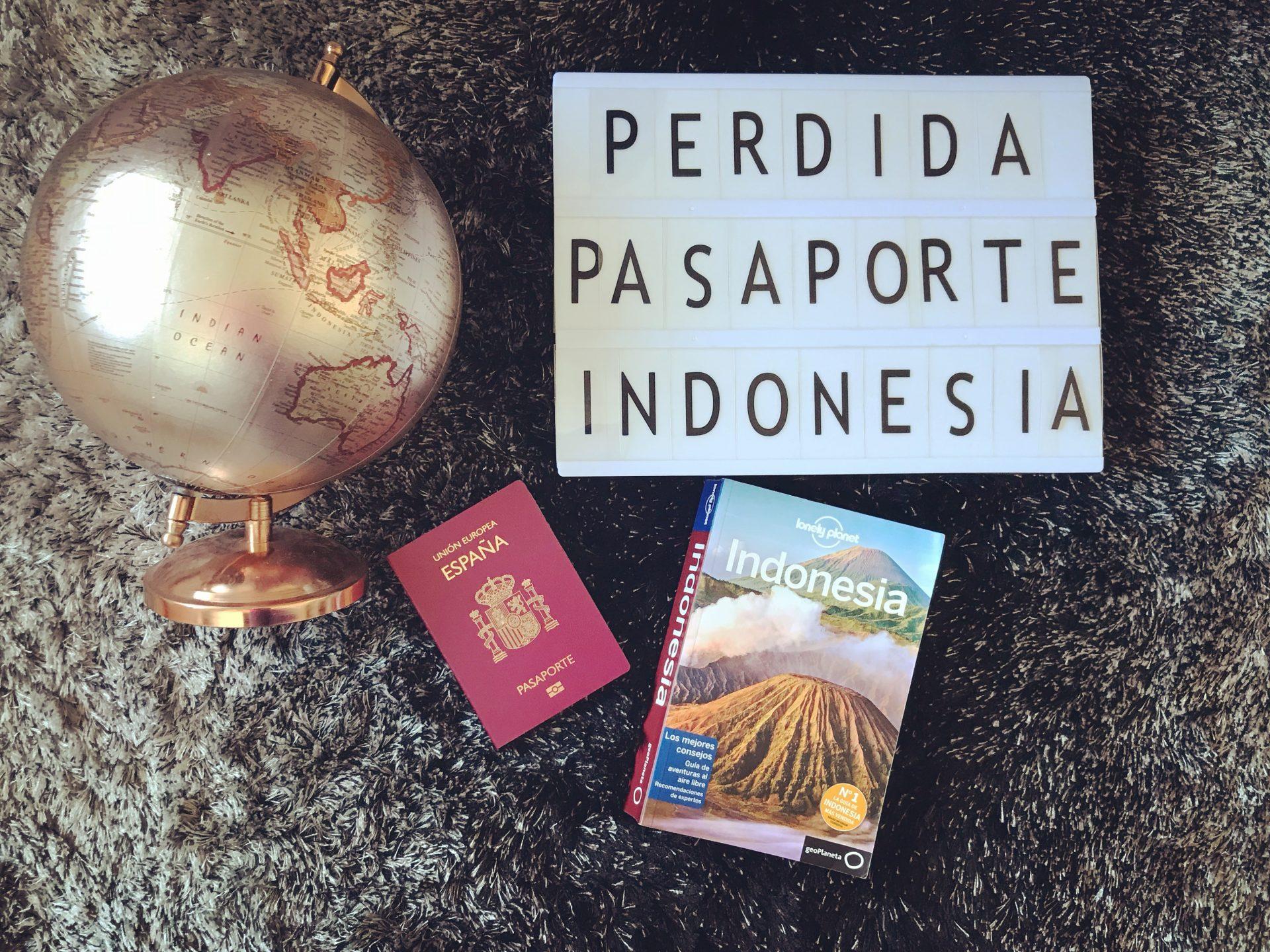 Perdida del pasaporte en Indonesia