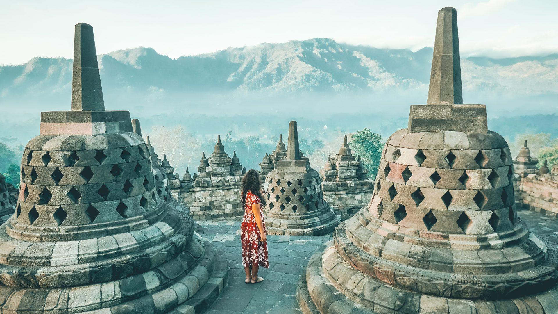 Ver el amanecer en Borobudur
